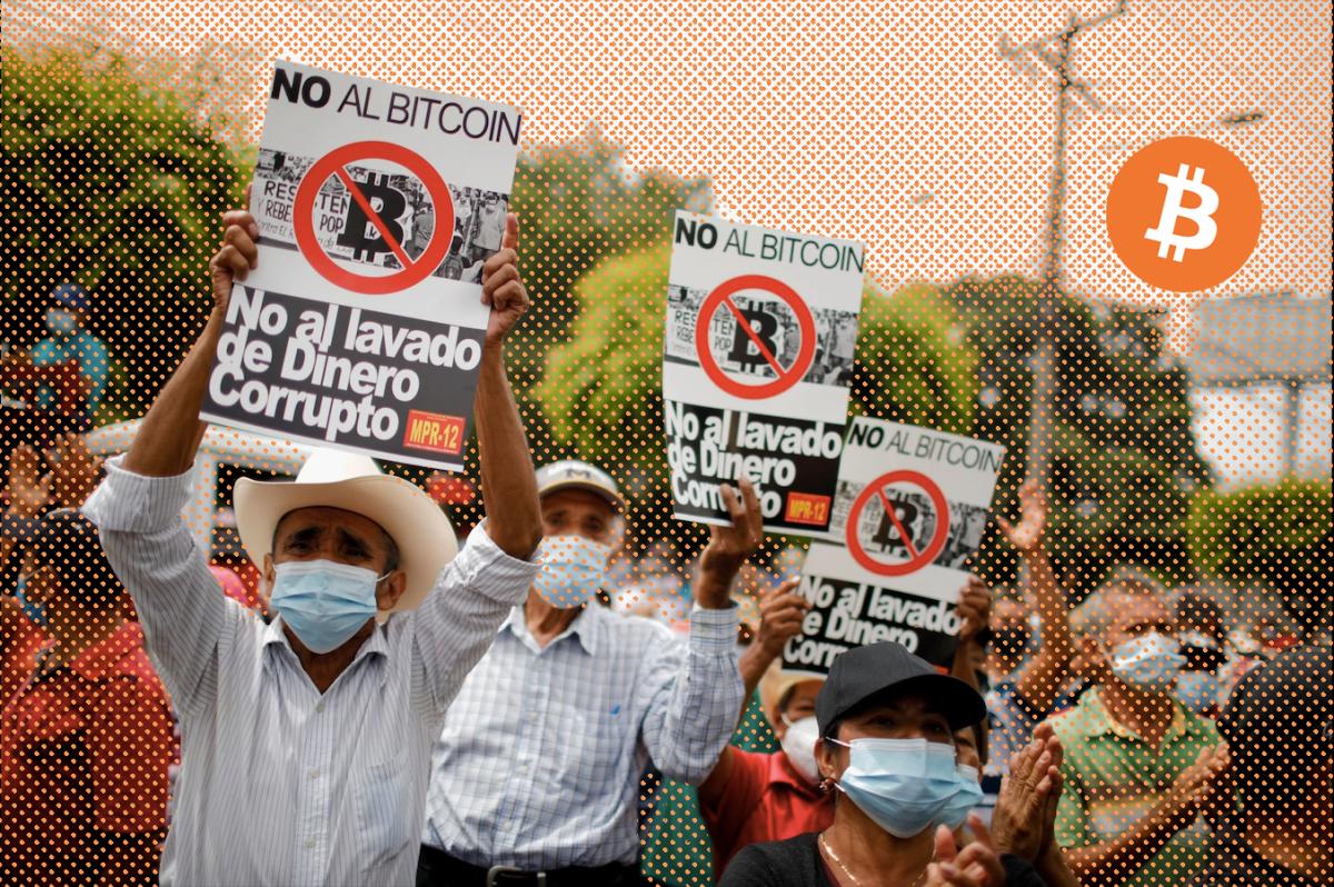 Làn sóng biểu tình phản đối bitcoin tràn ngập trên các con phố tại El Salvador